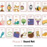 Free Phase 3 Sound Mat Pre-cursive