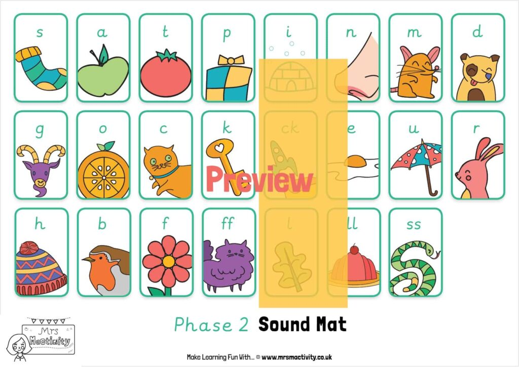 Phase 2 Sound Mat Pre-cursive