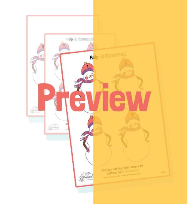 Penguin Counting Activity - x4 per sheet - Colouring Version
