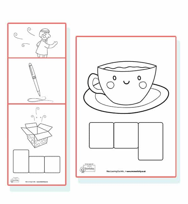 CVC Letter Shape Phoneme Frames - Ink Friendly Version