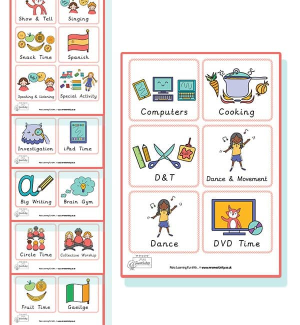 KS1 Visual Timetable