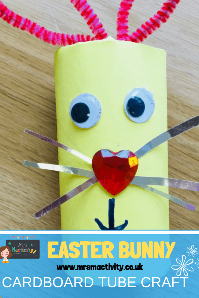 Easter bunny cardboard tube craft