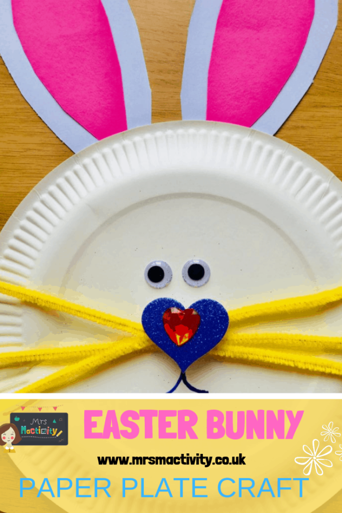 Easter bunny paper plate craft idea