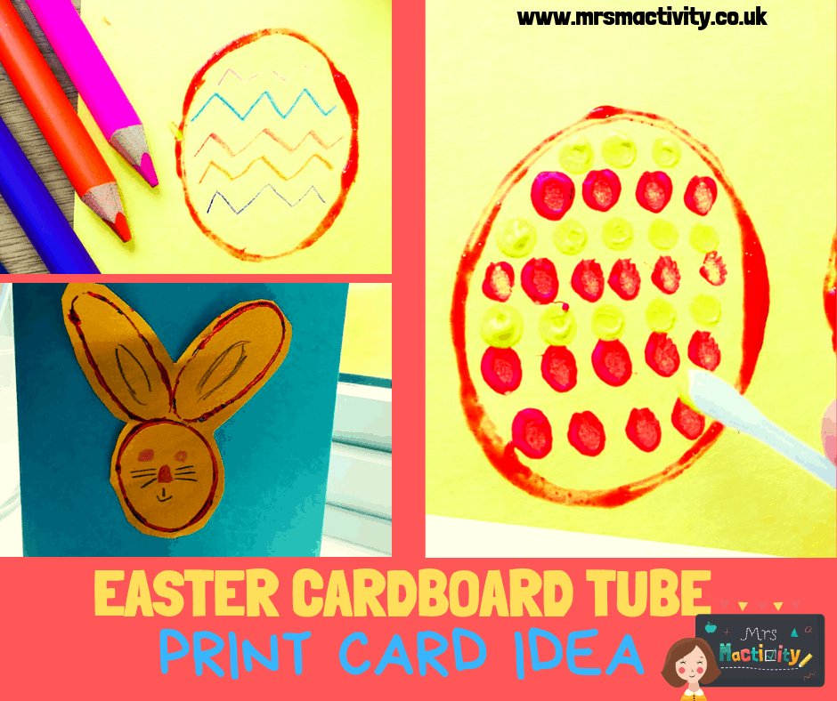 Easter cardboard tube print card