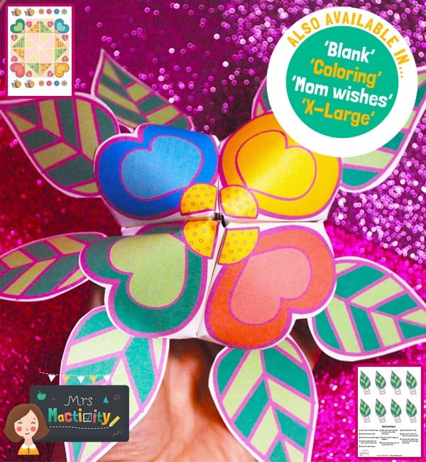 Mother's Day chatterbox craft