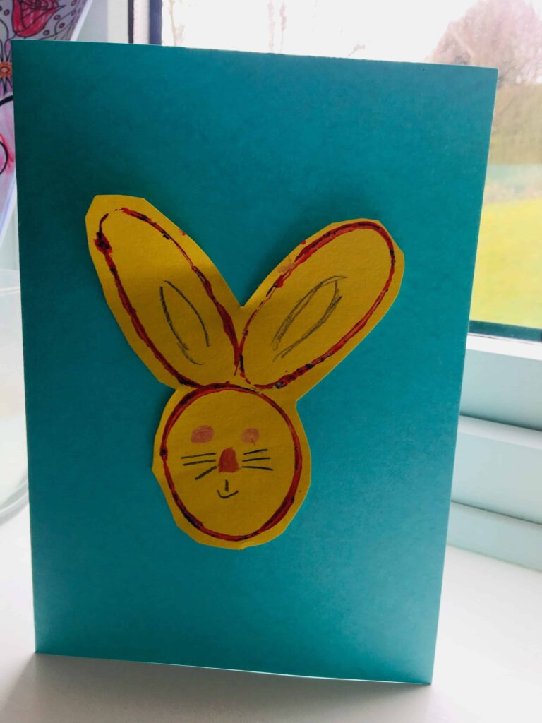 Easter bunny print Cardboard Tube Print Car