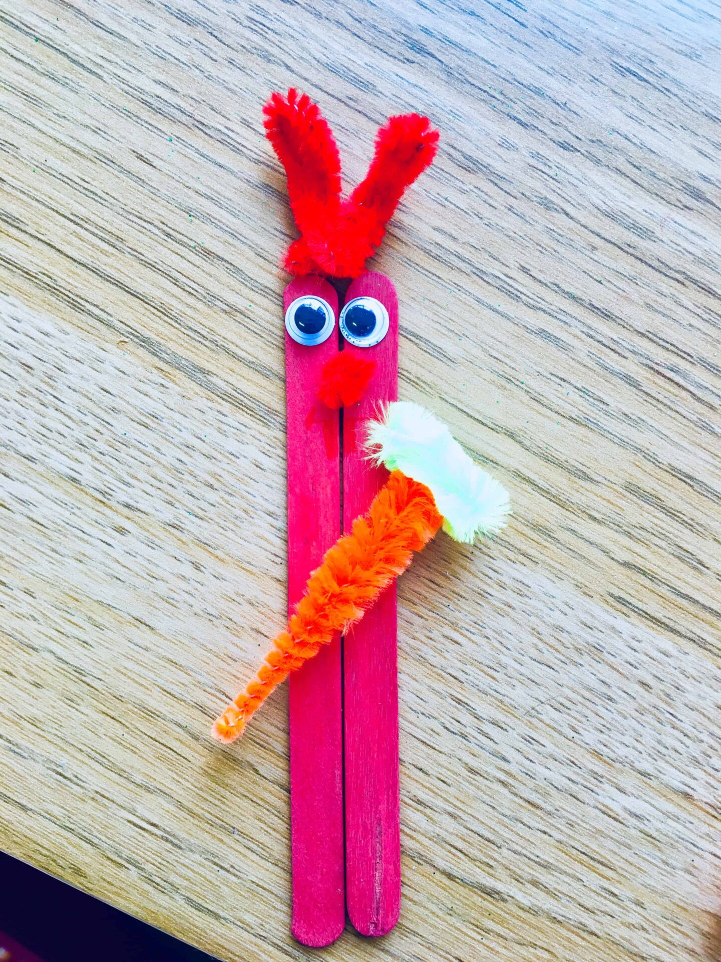 Easter bunny stick craft