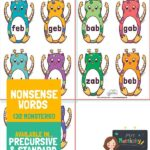 Alien Word Cards - x4 Per Page - Mrs Mactivity Font