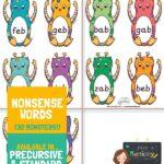 Alien Word Cards - x4 Per Page - Pre Cursive Font