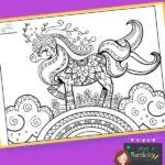 Unicorn Mindfulness Colouring
