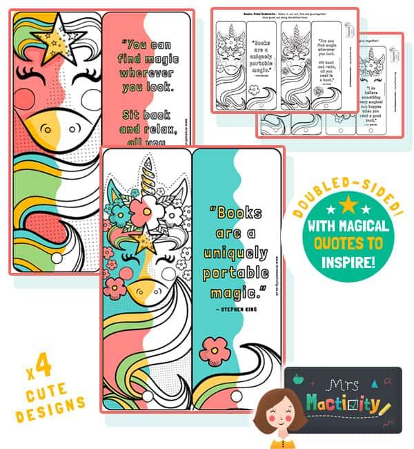 unicorn bookmarks