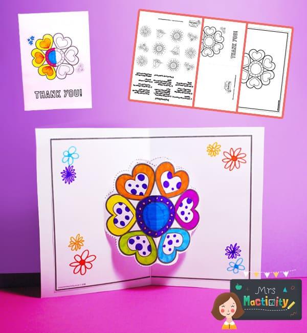 Thank You Flower 3D Pop Up Card