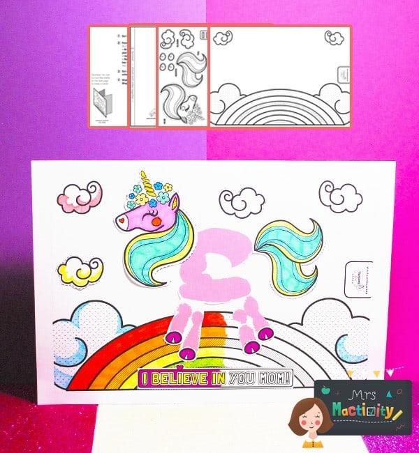Mother's Day Unicorn Handprint Card