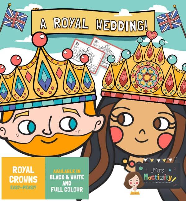 Royal Wedding 2018 Crown Templates - Colour
