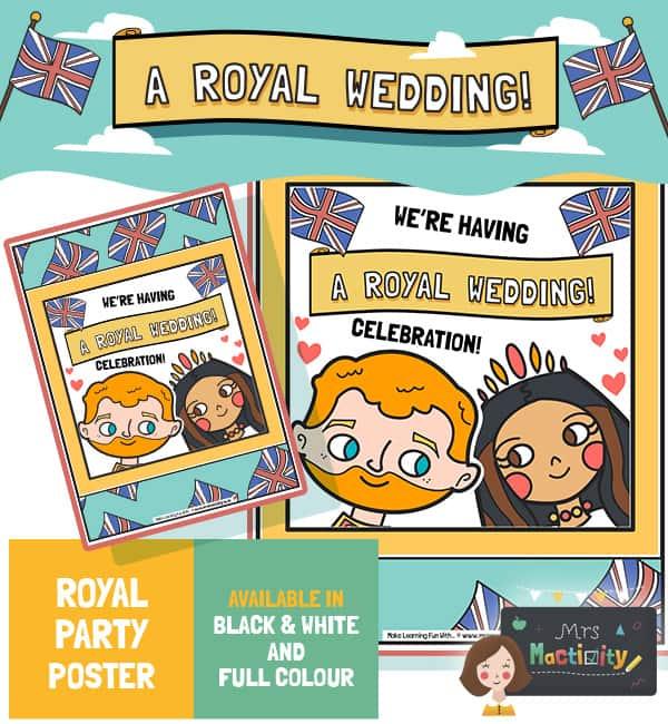 Royal Wedding 2018 Party Poster - Colour