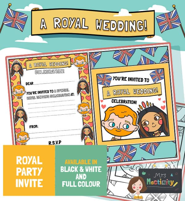 Royal Wedding 2018 Invites - Colour