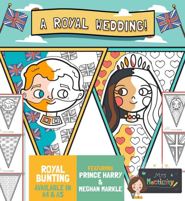 Royal Wedding 2018 Colouring Bunting