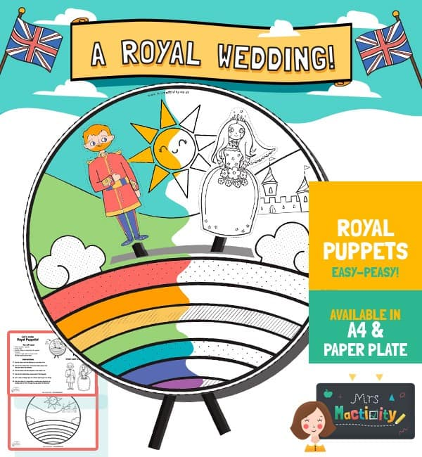 Harry and Meghan Royal Puppet Show Craft