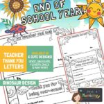 website preview END OF SCHOOL letters DINOSAURS