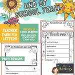 website preview END OF SCHOOL letters PARTY