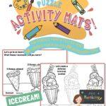 website preview Activity mats ICECREAM