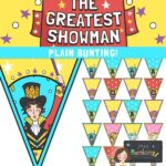 The Greatest Showman Plain bunting