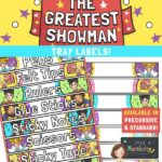 The Greatest Showman Tray Labels