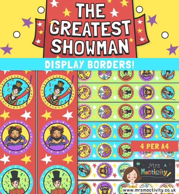 The Greatest Showman Display Borders