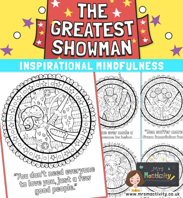 The Greatest Showman Mindfulness Colouring