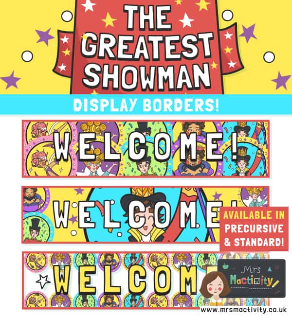 The Greatest Showman Welcome Display Banners