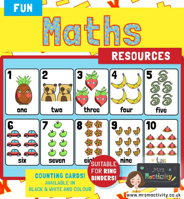 Maths Counting Cards