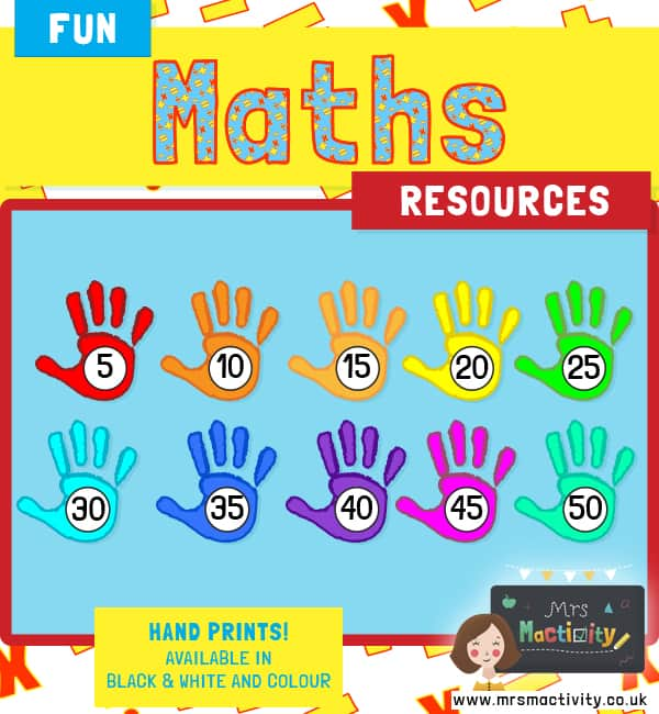 Hand Prints Counting in 5s