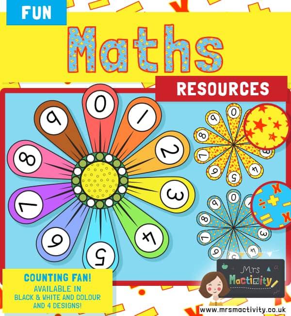 Maths Number Fans 0-10
