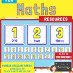 Maths number and word recognition activity