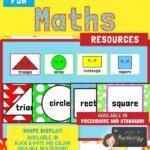2D Maths shape posters