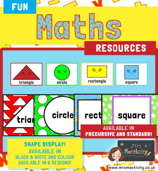 2D Maths shape posters