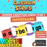 Common exception word paper chains