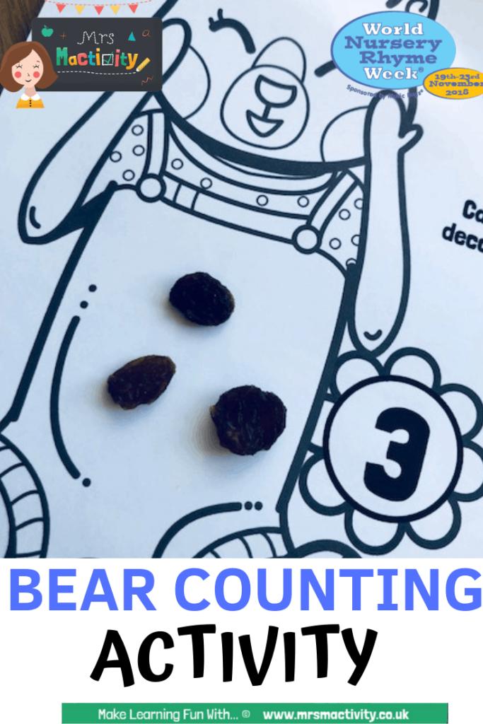 Bear counting activity idea