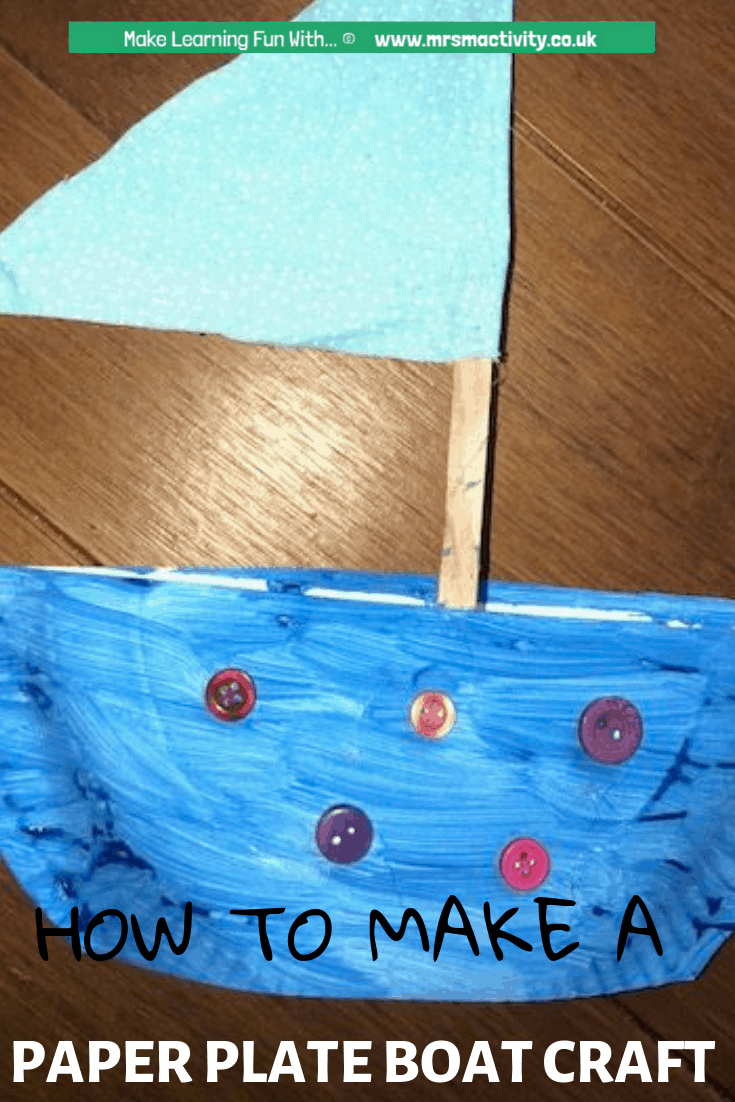 How to Make a Paper Plate Boat Craft