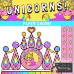 Unicorn Crown Craft Template