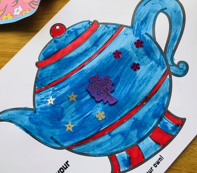 tipping teapot craft