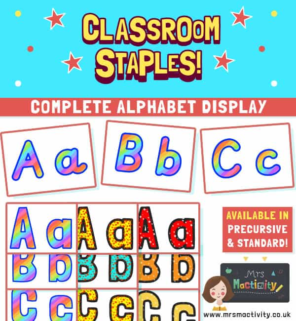 Alphabet Display Lettering