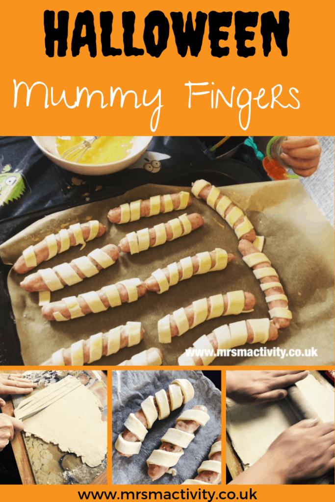 mummy fingers recipe for halloween