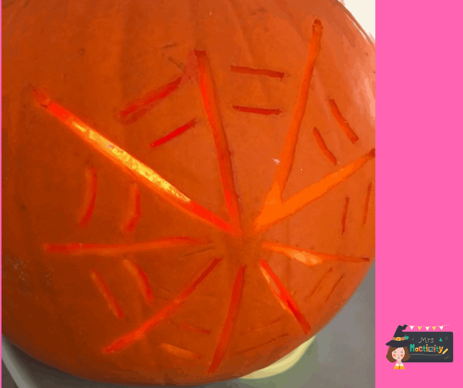 pumpkin carving example spider web
