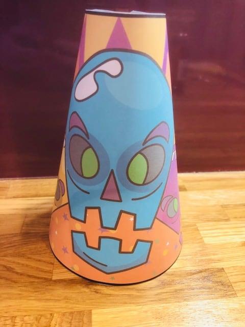 skull paper craft