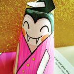 Vampire cone paper craft,