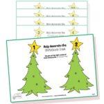 Christmas tree fine motor skills activity