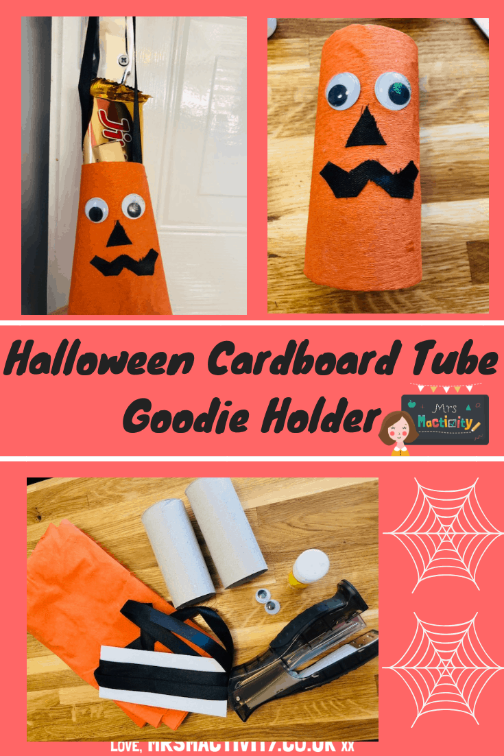 Halloween Cardboard Tube Goodie Holder