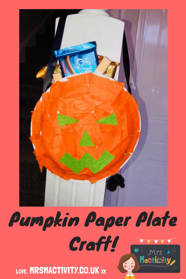 Halloween Pumpkin Paper Plate Craft