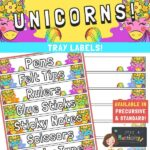 unicorn tray labels
